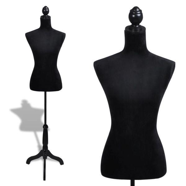 Manekin kobiecy, korpus, czarny welur zdjęcie 1