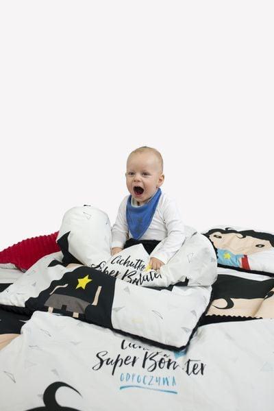 Zestaw kocyk i poduszka BATMAN z polaru Minky zdjęcie 3