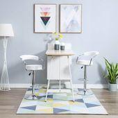 Obrotowe krzesła barowe, 2 szt., ekoskóra, 52x51x106, białe