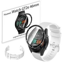 Pasek sportowy opaska i szkło 3D do Huawei GT2e 46mm biały wzór