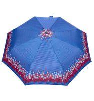 MOCNA automatyczna parasolka marki PARASOL, niebieska z lamówką