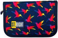 Piórnik dwuklapkowy bez wyposażenia St.Right PC3 Rainbow Birds