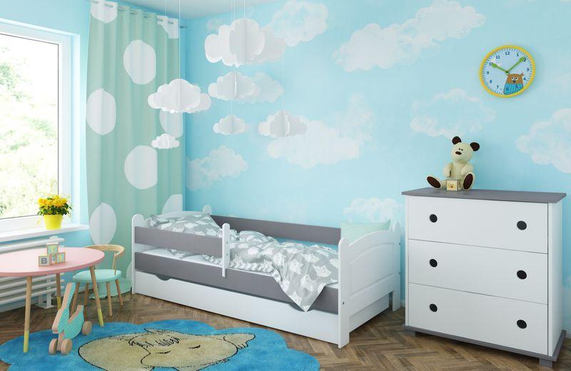 Łóżko AMELIA 140x80 szuflada + barierka zabezpieczająca + MATERAC zdjęcie 2