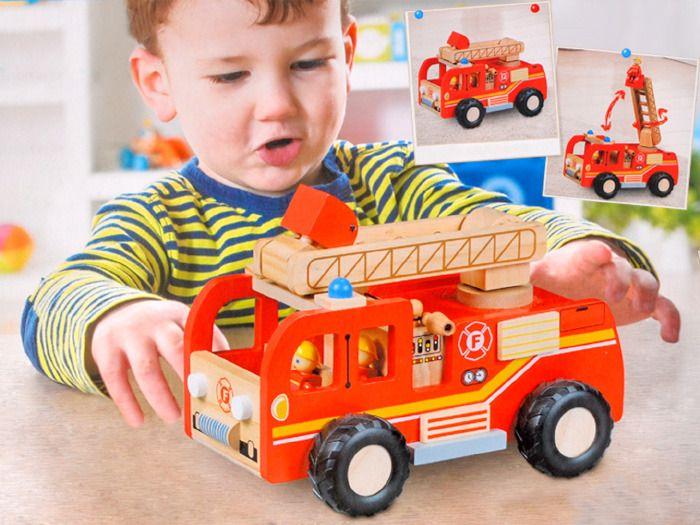 WIELKA Straż Pożarna wóz strażacki DREWNO ZA1809 zdjęcie 9
