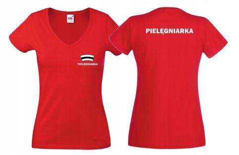 Koszulka V PIELĘGNIARKA czepek napis PLECY r XXL