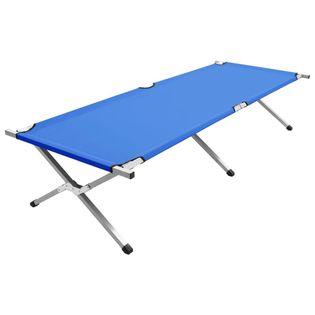 Łóżko kempingowe 210x80x48cm XXL niebieskie VidaXL