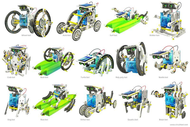 Edukacyjny Zestaw Solarny Robot 14w1 - Pies, Łódka zdjęcie 5