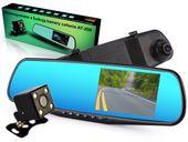 Kamera cofania w lusterku rejestrator wideo jazdy przód i tył full hd