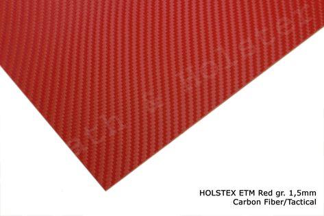 HOLSTEX Carbon EMT Red - 150x200mm gr. 1,5mm