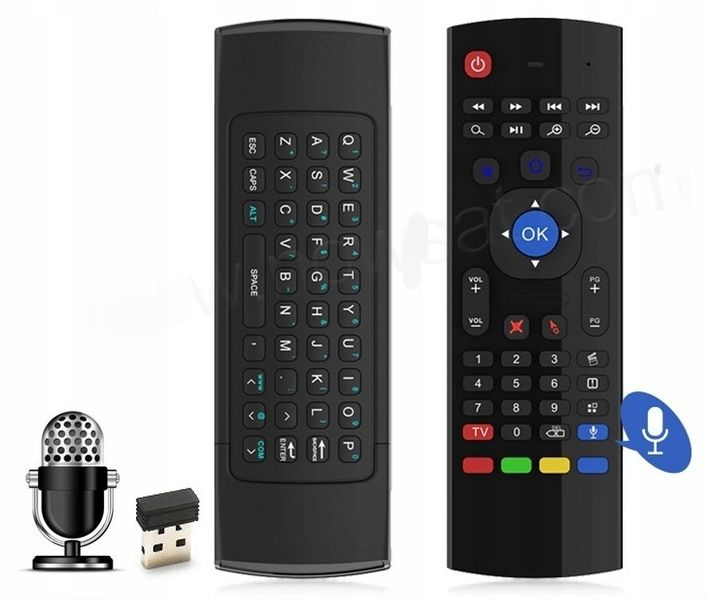 Pilot MX3 PRO Smart TV Air Mouse BOX TV Z MIKROFON zdjęcie 8