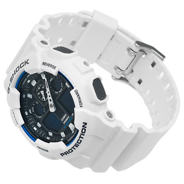 8a620358c788c4 Zegarek Casio G-shock GA-100B-7AER + Bateria biały • Arena.pl