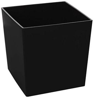 Doniczka JUKA 40x40 + Wkład czarna Lamela