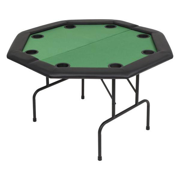 Składany stół do pokera dla 8 graczy, ośmiokątny, zielony zdjęcie 2