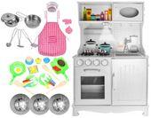 Drewniana Kuchnia Dla Dzieci Światła Dźwięki Granki Akcesoria Z371Z zdjęcie 14