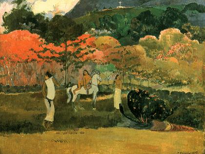 Reprodukcja obrazu Women and Mold - Paul Gauguin Rozmiar - 60x45