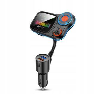 TRANSMITER FM BLUETOOTH 5.0 ŁADOWARKA USB QC3.0 T831