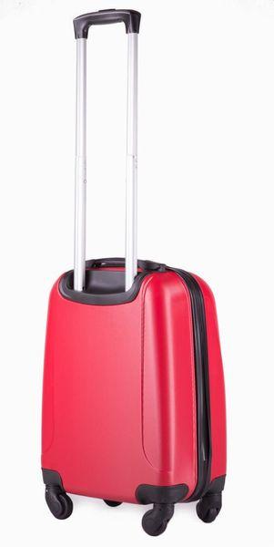 Kabinowa walizka podróżna ABS czerwona S Ryanair Wizzair zdjęcie 2