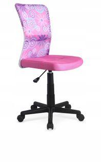Fotel do biurka DINGO młodzieżowy RÓŻOWY obrotowy