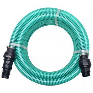Wąż ssący ze złączkami, 4 m, 22 mm, zielony