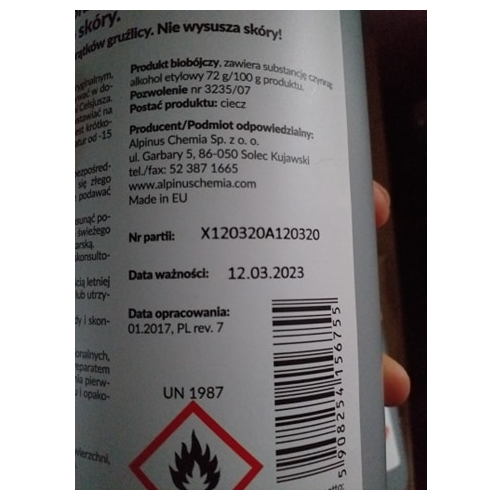 Żel Antybakteryjny dezynfekujący alkoholowy Sterillhand 1l do rąk na Arena.pl