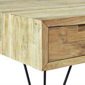 Szafka pod telewizor, 120 x 35 x 35 cm, lite drewno tekowe zdjęcie 8