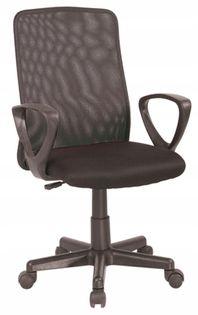 Fotel do biurka Q-083 CZARNY dla dziecka siatka