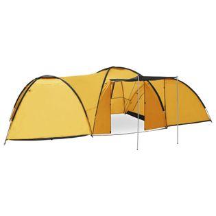 Namiot turystyczny igloo 650x240x190cm 8-os. żółty VidaXL