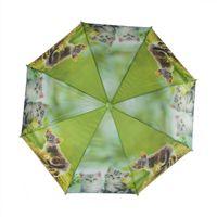 Parasolka dziecięca, automatyczna z gwizdkiem, zielona w kotki