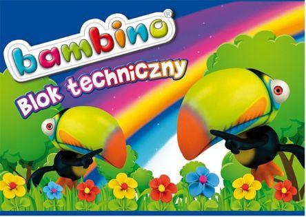 Blok techniczny A4 biały BAMBINO 10 kartek 5001550