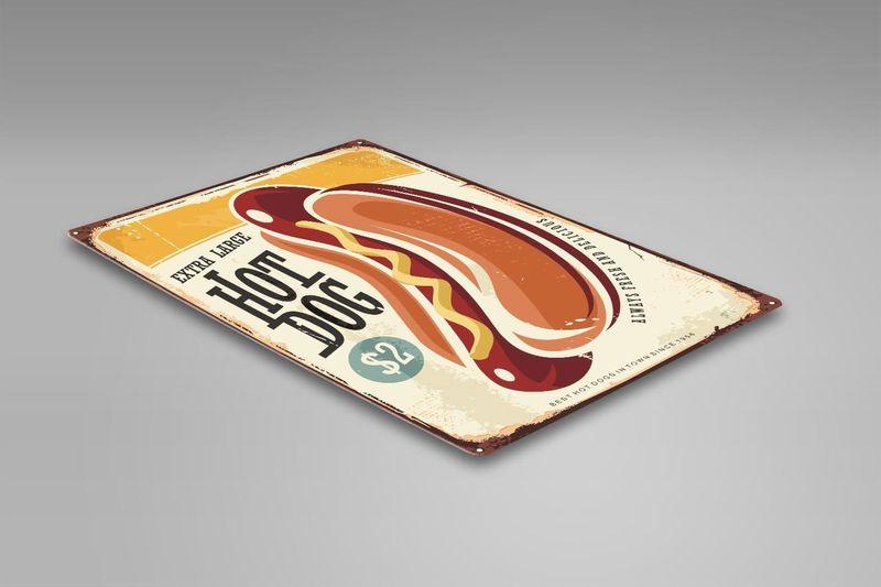 Wydruk na metalu, Retro – Hot Dog 30x40 zdjęcie 2