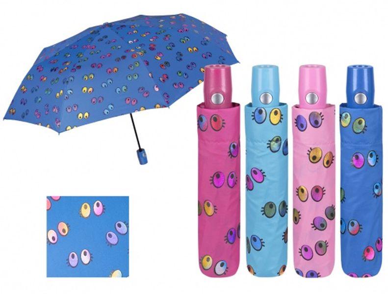 4f9b2c2050aaf Granatowa automatyczna parasolka w różnobarwne oczka • Arena.pl