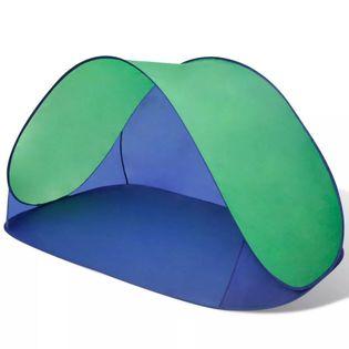 Składany namiot plażowy wodoodporny zielony VidaXL