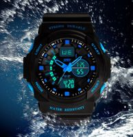 Męski Zegarek S-SHOCK 2 czasy 3 kolory WR50 styl G nowość super wygląd