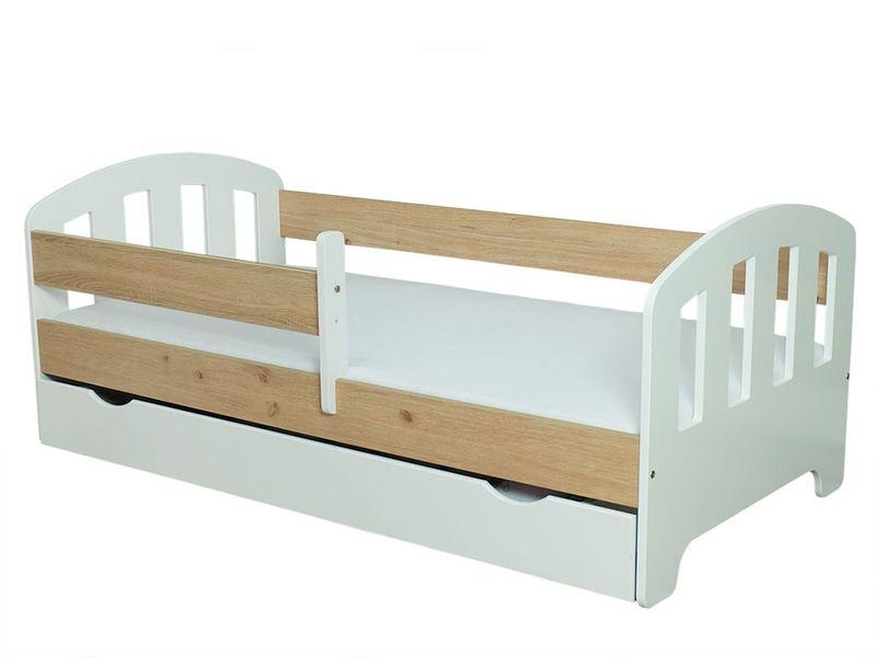 Łóżko FIFI 140x80 + szuflada + barierka zabezpieczająca + MATERAC zdjęcie 11
