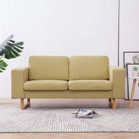 2-osobowa sofa tapicerowana tkaniną, zielona
