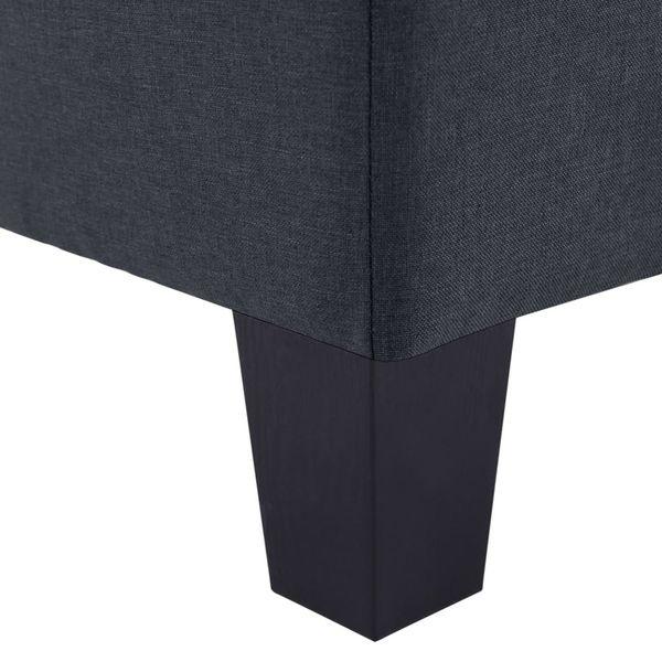 2-osobowa sofa ciemnoszara tapicerowana tkaniną VidaXL na Arena.pl