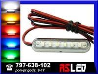 uniwersalna Lampa LED 6 SMD 42mm obrysowa obrysówka 12v 24v  TUNING