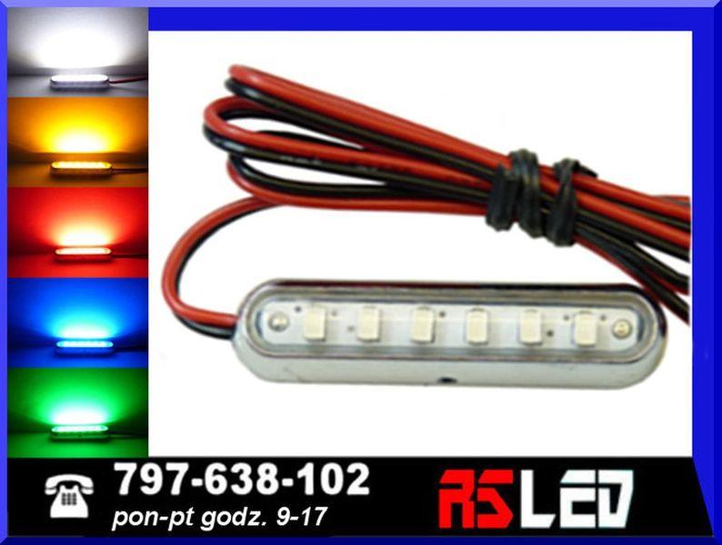 uniwersalna Lampa LED 6 SMD 42mm obrysowa obrysówka 12v 24v  TUNING na Arena.pl