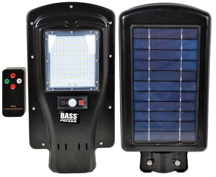Uliczna Lampa Solarna 60 Led Panel Solar Z Pilotem 50w