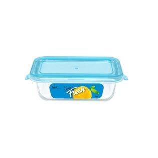Pojemnik szklany żaroodporny prostokątny z pokrywką do żywności KEEP IT FRESH 180ml