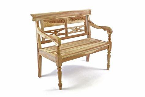 Drewniana 2-osobowa ławka dla dzieci