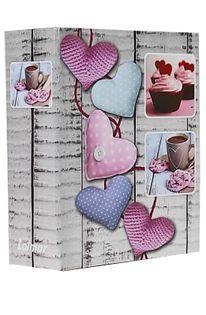 ALBUM, albumy na zdjęcia; 304 zdjęcia 10x15 cm opis HEARTS róż serca