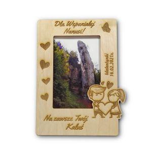 Ramka na zdjęcia sklejka walentynki, ślub, rocznice  dzień Mamy, urodziny, imieniny