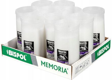 Wkłady do zniczy parafinowe BISPOL P500 80H 10szt.