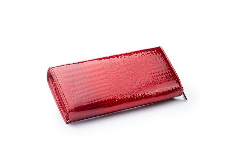 Czerwony skórzany portfel na suwak Zagatto ZG-55288-RS zdjęcie 4