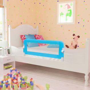 Barierka ochronna do łóżka 102x42cm niebieska VidaXL