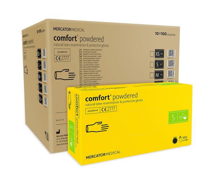 Rękawice lateksowe comfort powdered S karton 10 op. x 100 szt. na Arena.pl