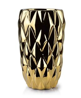 Wazon Ceramiczny 15X15X25Cm Basile Gold Mondex Htts6826