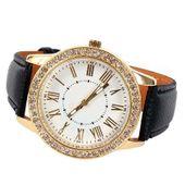 Zegarek damski, Geneva, złoty z kryształkami, 3 kolory, pasek, NOWY zdjęcie 2