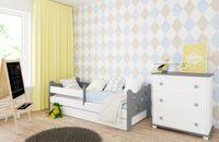 Łóżko KAMIL 160 x 80 szuflada i barierka zabezpieczająca + MATERAC